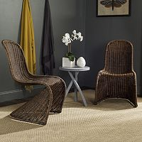 Safavieh Tana Wicker Chair 2 pc Set