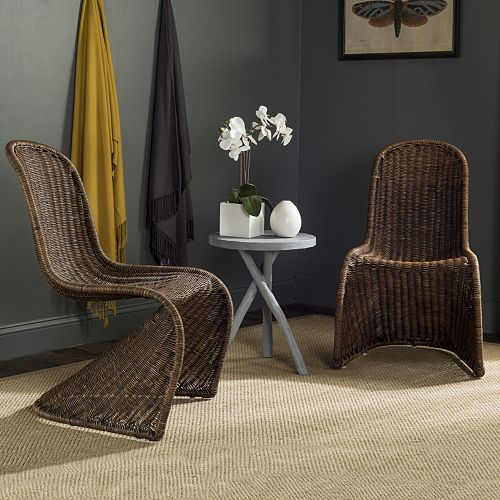 Safavieh Tana Wicker Chair 2-piece Set