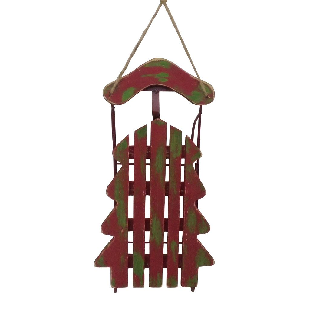 St. Nicholas Square® Distressed Wooden Sled Christmas Ornament