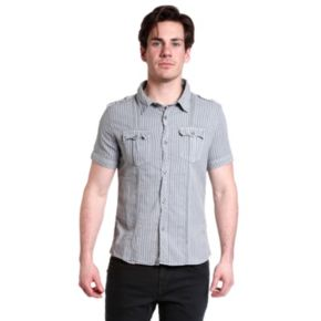 Men's Excelled Slim-Fit Striped Button-Down Shirt
