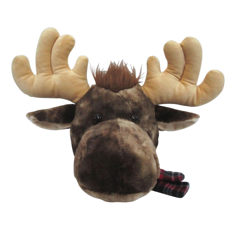 St Nicholas Square Plush Moose Christmas Tree Topper With Deer