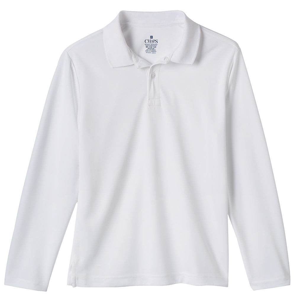 Boys 8-20 Chaps School Uniform Performance Polo