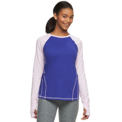 Women's Tek Gear® Printed Raglan Layering Tee