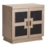 Alexander Tan Geometric Panel 2-Door Cabinet
