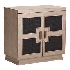 Alexander Tan Geometric Panel 2-Door Cabinet by
