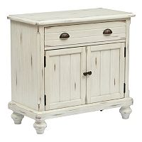 Peggy White Country 2-Door Cabinet