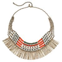 GS by gemma simone Beaded Stick Statement Necklace
