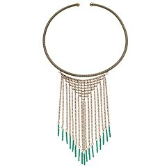 GS by gemma simone Seed Bead Fringe Collar Necklace