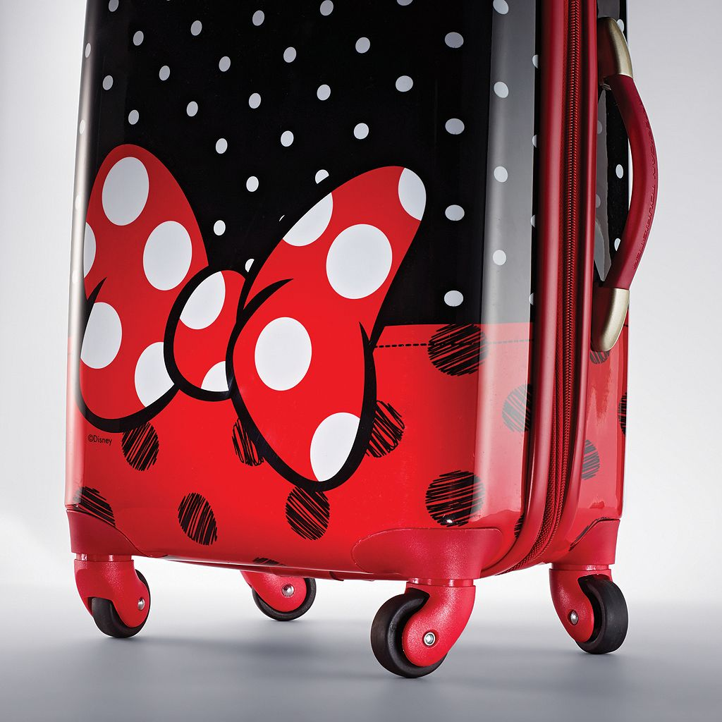 Disney's Minnie Mouse Red Bow Hardside Spinner Luggage by American Tourister