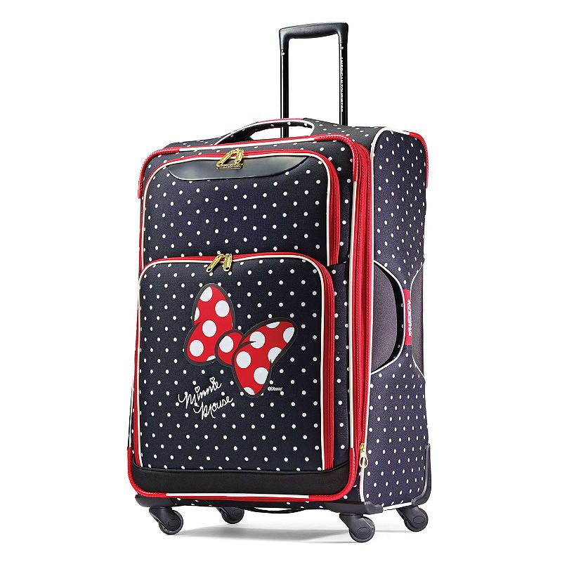 d5e796e80c8 049845212117. Disney's Minnie Mouse Red Bow & Faces Spinner Luggage by American  Tourister ...