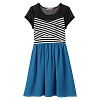 Girls 7-16 & Plus Size Speechless Illusion Striped Dress