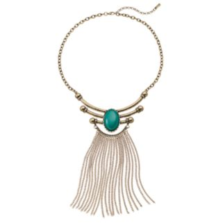 GS by gemma simone Oval Cabochon & Fringe Statement Necklace