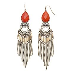 GS by gemma simone Fringe Teardrop Earrings