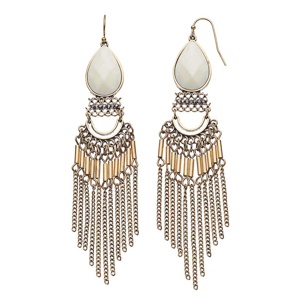 GS by gemma simone Fringe Teardrop Earrings