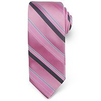 Haggar Striped Microfiber Tie