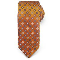Big & Tall Haggar Extra-Long Geometric Neat Microfiber Tie