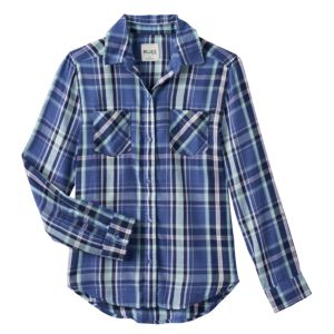 Girls 7-16 & Plus Size Mudd® Button-Front Plaid Shirt