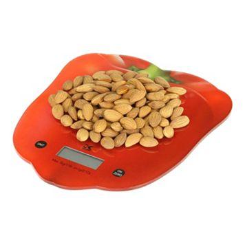 Kalorik Red Pepper Digital Kitchen Scale