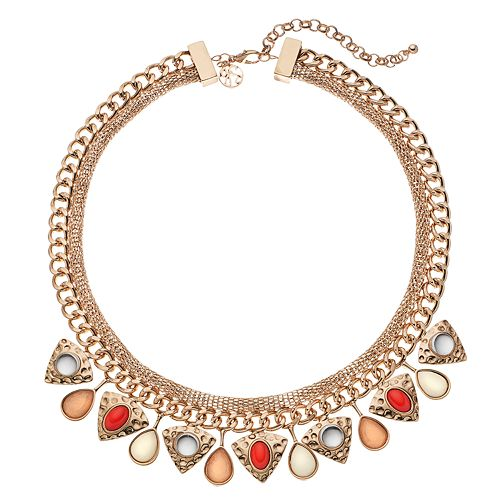 GS by gemma simone Triangle & Teardrop Statement Necklace