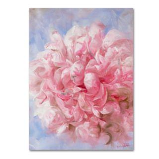 Trademark Fine Art Pink Peonie I Canvas Wall Art