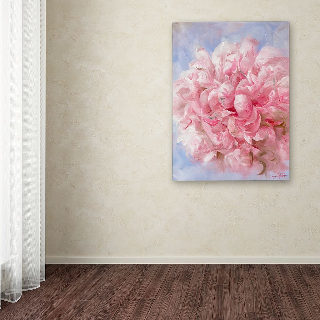 Trademark Fine Art Pink Peonie I Canvas Wall Art