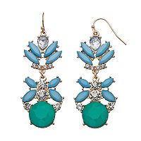 GS by gemma simone Marquise Cluster Drop Earrings