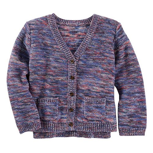 Girls 4-8 OshKosh B'gosh® Space-Dyed Knit Cardigan