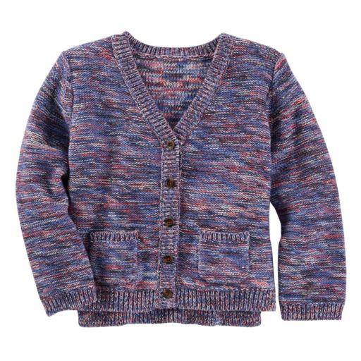 Girls 4-8 OshKosh B'gosh® Space-Dyed Knit Cardigan