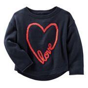 Girls 4-8 OshKosh B'gosh® 'Love' Heart Knit Sweater