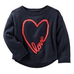 Girls 4-8 OshKosh B'gosh® 'Love' Heart Knit Sweater