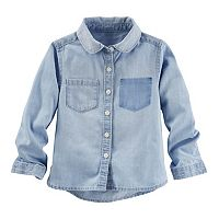 Girls 4-8 OshKosh B'gosh® Shadow Pocket Chambray Button-Down Shirt
