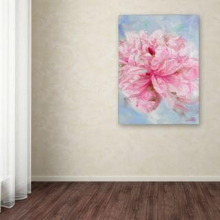 Trademark Fine Art Pink Peonie II Canvas Wall Art