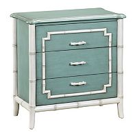 Manchester Blue Faux Bamboo 3-Drawer Dresser