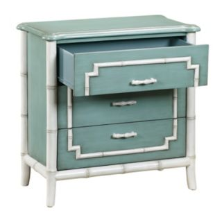 Manchester Blue Faux Bamboo 3-Drawer Dresser