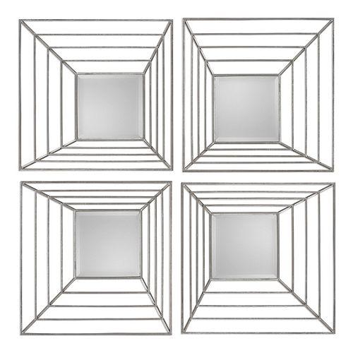 Denain Square Wall Mirror 4-piece Set