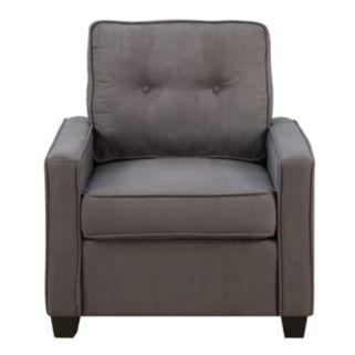 Vernon Slate Gray Tufted Back Arm Chair