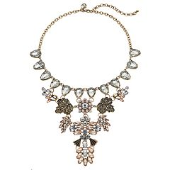 GS by gemma simone Flower & Leaf Statement Necklace