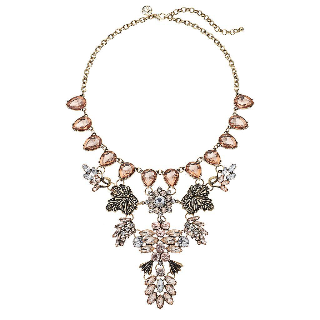 GS by gemma simone Flower & Leaf Statement Necklace