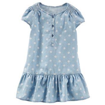 Girls 4-8 OshKosh B'gosh® Polka-Dot Chambray Drop-Waist Dress
