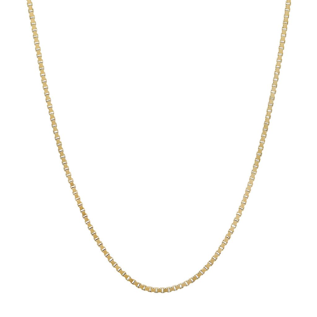 Everlasting Gold 14k Gold Box Chain Necklace