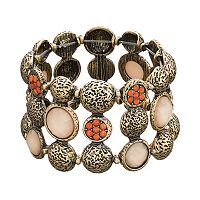 GS by gemma simone Circle Multi Row Stretch Bracelet
