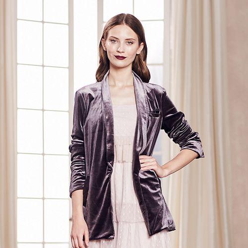 LC Lauren Conrad Runway Collection Velvet Blazer - Women's