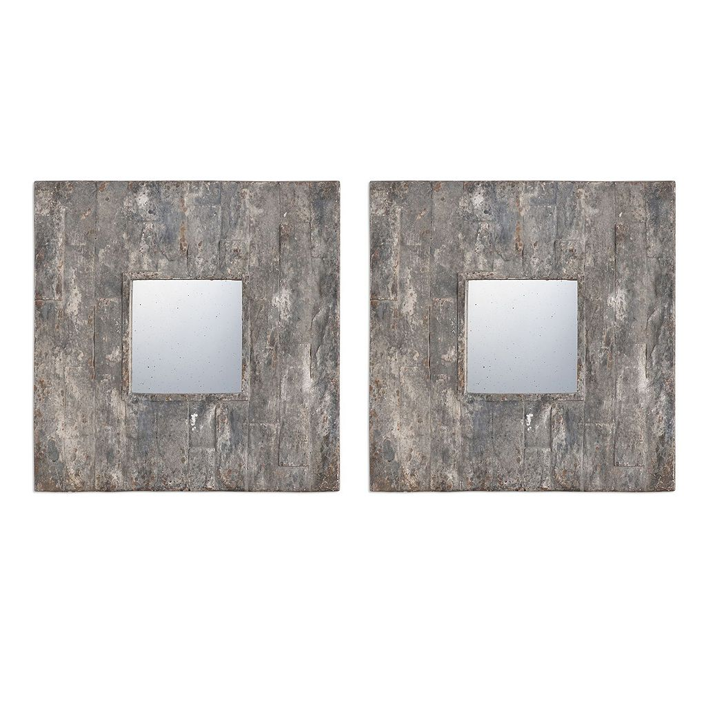 Piera Square Wall Mirror 2-piece Set