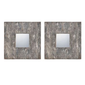 Piera Square Wall Mirror 2-piece Set