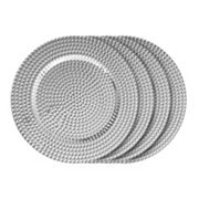 Charge It by Jay 4 pc Beaded Charger Plate Set