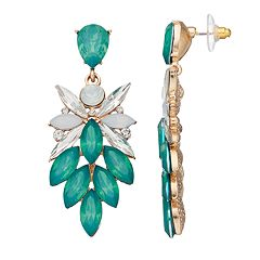 GS by gemma simone Faceted Marquise Drop Earrings