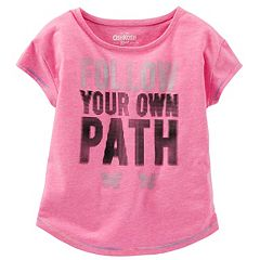 Girls 4-8 OshKosh B'gosh® 'Follow Your Own Path' Dot Graphic Neon Active Tee