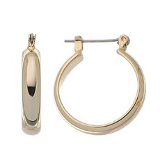 Napier® Gold-Tone Domed Hoop Earrings - 7/8-in.