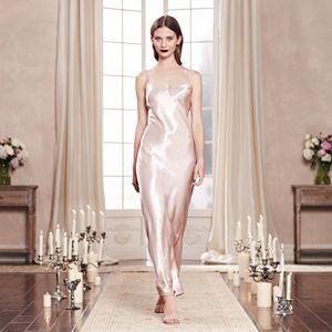 LC Lauren Conrad Runway Collection Satin Full-Length Gown - Women's