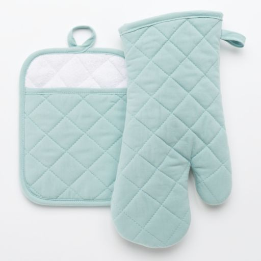 Food Network™ Quilted Pot Holder & Oven Mitt Set